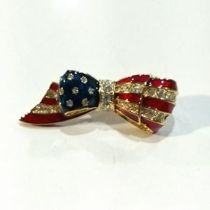 Carolee American flag Brooch.